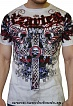 Футболка Xzavier L1149 Celtic Skully Duo цвет graphic tee/white